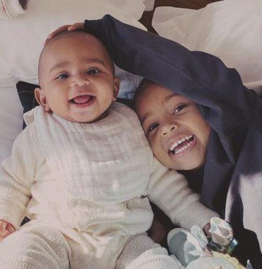 Kanye West kids photo