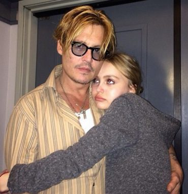Lily-Rose Depp parents photo